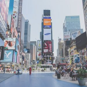 Advertising boards in New York's Time Square