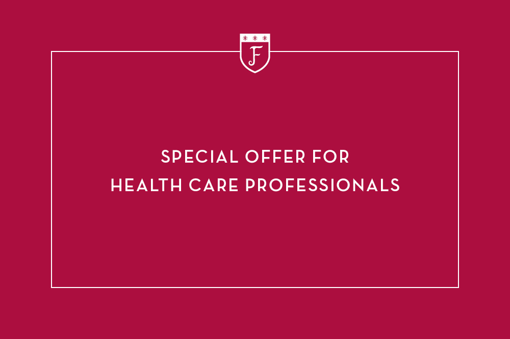 Red Box, text reads Special Offer For Health Care Professionals