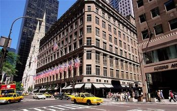 The exterior of Saks Fifth Avenue which is easily accessible from our Fitzpatrick Hotels nEW yORK