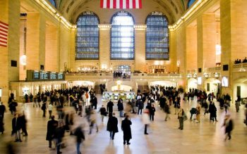 People rushing at a busy terminal at Grand Central station in New York