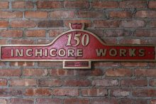 Red signage for Inchicore Railway Works which operated from 1846-1996.